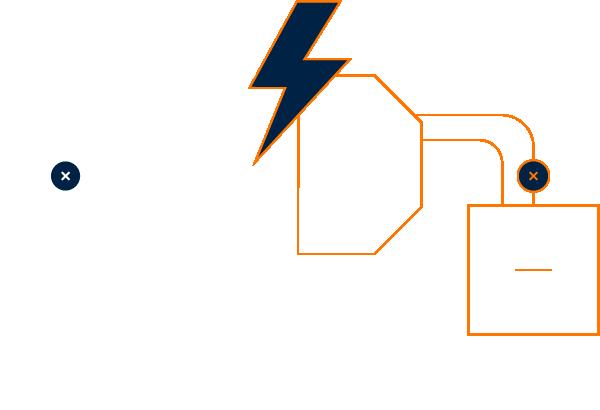 A diagram showing how vanadium flow batteries work.