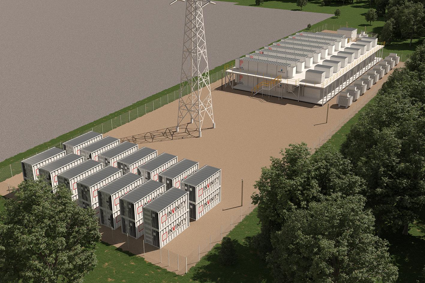 Energy Superhub Oxford rendering of future storage site.